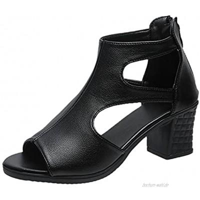 TITIU Damen Keilabsatz Sandalen mit Absatz Elegante Vintage Sandaletten Strandsandalen Sommer Plattform Offene Schuhe Sommerschuhe Freizeit Plateau