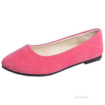 Damen Flache Ballerinas Einfarbig Mokassins Bequeme Loafer Frauen Elegante Slipper Schöner Schuh Slip-Ons Casual Damenschuhe Celucke