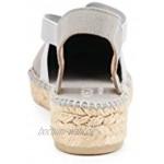 VISCATA Handmade in Spain Cadaques 2,5 cm Keilabsatz weiches Segeltuch mit elastischen Bändern geschlossener Zehenbereich Espadrilles Ferse