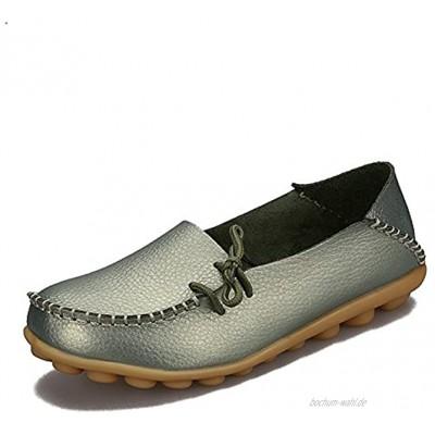 Eagsouni™ Damen Mokassin Leder Loafers Fahren Schuhe Comfort Freizeit Flache Schuhe,16 Farben