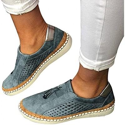 Osheoiso Sneakers Damen Slip On Lässige Flache Einzelschuhe Übergrößen Sneaker Atmungsaktiv Turnschuhe Outdoor Sportschuhe Laufschuhe Schuhe mit Katzen Print Sommerschuhe