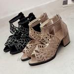OYSOHE Damen Vintage Sommer Frauen Schuhe Sandalen Plattform Keil High Heels Bohemian Schuhe Sandaletten mit gekreuzten Fersenschuhen