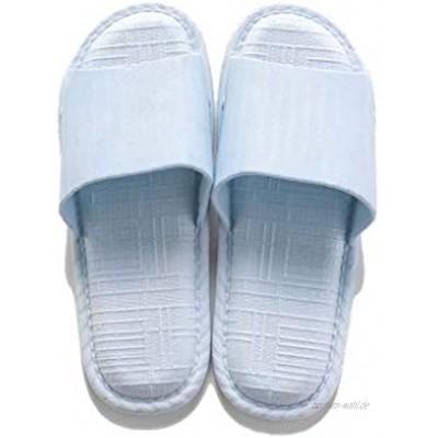 Ssrsgyp 2 Paar Damen Badeschuhe Herren Summer Hausschuhe Anti-Rutsch-Feste Beiläufige Heim Indoor Damen Sandalen Color : Blue Size : 38