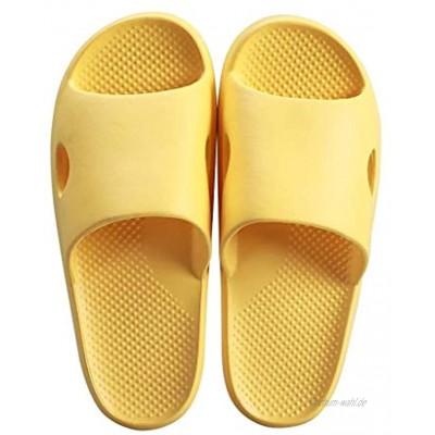 Ssrsgyp Slippers Female Sommer Indoor Thick Bottom Home Anti-Rutsch-Badezimmer Weiche Unterseite Mute Startseite Stinkt Nicht Color : Yellow Size : 39