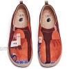 uin Marrakech Damen Painted Slip On Schuhe Lässiger Reiseschuhe Segelschuhe Leicht Loafer Schuhe Canvas(39)