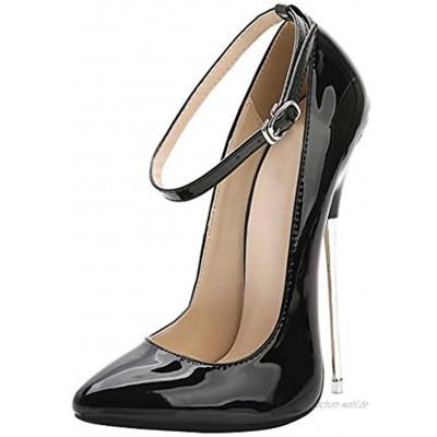 Yudesun Schuhe Kleid Pumps Damen Hochzeitsschuhe Pumps Damen Mode High Heels Spitz Sexy Kleid Partei 16cm Abendschuhe Sandalen…