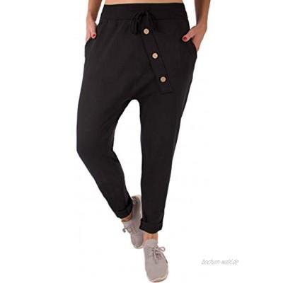 stylx Damen Jogginghose Größe 36-50 Sweatpants Sterne Boyfriend Ali Baba Style Anker Camouflage Uni Farben