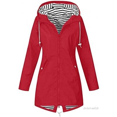 LIZS Regenjacke damen wasserdicht atmungsaktiv fahrrad windjacke dünne regenjacke wasserdichte outdoor-Sportbekleidungsjacke mit sonnenschutz
