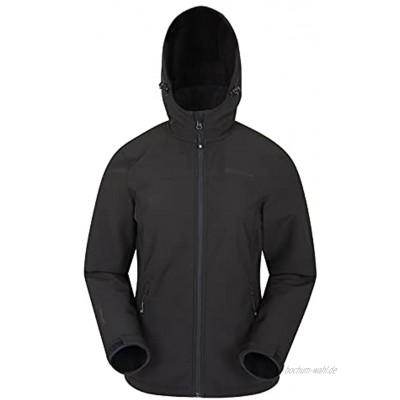 Mountain Warehouse Exodus Damen Softshell-Jacke Unterziehjacke wasserdichte und atmungsaktive Jacke mit Kapuze für Damen leichte Softshell-Jacke für Frauen