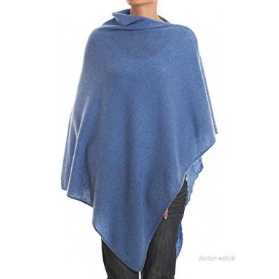 Dalle Piane Cashmere Poncho aus 100% Kaschmir für Frau Farbe: Hellblau Einheitsgröße