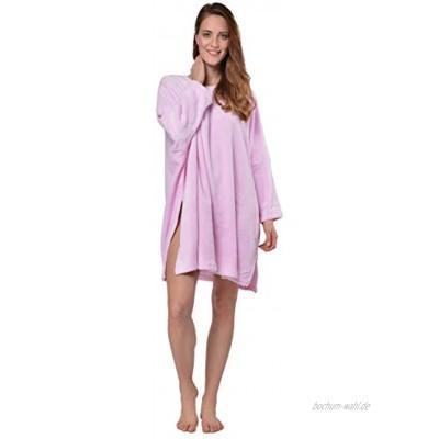 RAIKOU Damen Kurzer Bademantel Fleece Poncho Capes Coucher Nachthemd One Size