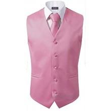 3 Stück Weste + Krawatte + Einstecktuch Herren Mode formell Kleid Anzug Slim Smoking Weste Mantel