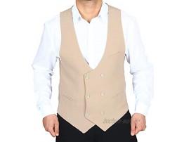H K Mandel Vintage Herren Anzug Weste in Beige Sakko Blazeranzug Smoking Anzugweste Größe 44-62