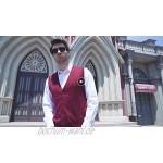 Kallspin Herren Strickweste Pullunder Kashmir Wolle V-Ausschnitt mit Knöpfen
