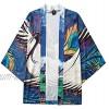 Hniunew Baggy Cardigan Unisex Japan FrüHling-Sommer Kimono Tops Kurzarm Strickjacke Cloak Jacke Kimono Robe Halber ÄRmel Mantel Jacke Brautjungfer Brautdusche Damen Herren Geschenk
