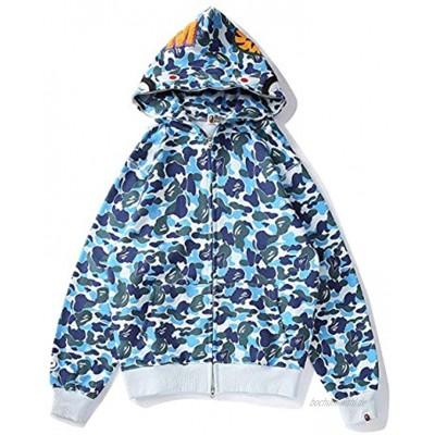 Bape Hoodie Street Fashion Shark Head Camouflage Hoodie Herren Damen Teenager