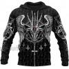 BBYaki Satanic Teufel 3D Printed Hoodie Mens Tattoo Mode Pullover Schaf-Kopf Lang-Hülse Schwarz Herbst Harajuku Streetfreizeitjacke