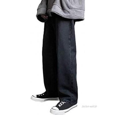 Minetom Hose Herren Patchwork Farbblock Jeans Straight Leg Denim Jeans Retro Lose Hose Jogginghose Streetwear für Männer