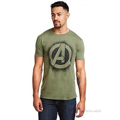 Marvel Herren Avengers Stencil Logo T-Shirt