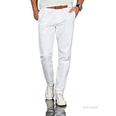 A. Salvarini Herren Designer Business Chino Hose Chinohose Regular Fit AS-095