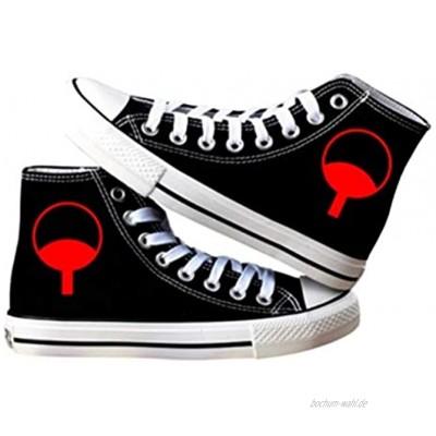 pZgfg Canvas Shoes Unisex Anime Naruto Uchiha Itachi Akatsuki Lässige Leinenschuhe Segeltuchschuhe Seilsohlen Schuhe