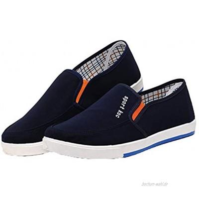 Segeltuchschuhe für Männer Lässige Slip-On-Schuhe Männliche rutschfeste Flats-Schuhe Stilvolle Low-Top-Wanderschuhe