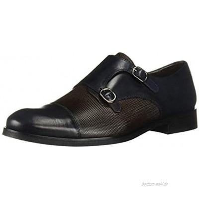 MARC JOSEPH NEW YORK Herren Leather Luxury Gold Collection Double Monk Dress Shoe Halbschuhe