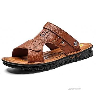 MOMIN Mens Slide Sandalen Herren Slide Sandals Beach Hausschuhe Indoor und Outdoor Outdoor-Sportwandersandalen Color : Yellow Brown Size : 45