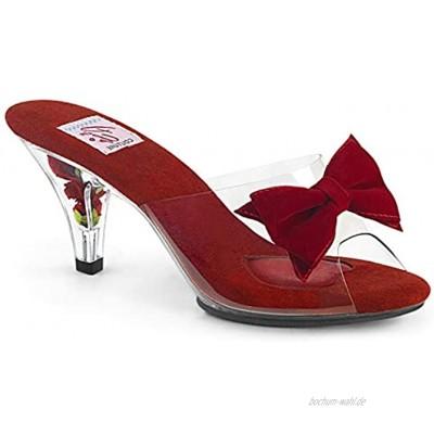 Pin Up Couture Damen BELLE-301BOW Pantolette Clr Clr Rot 44 EU